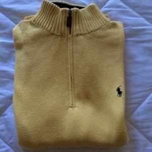 Ralph Lauren Polo 3/4 inch zip down Sweater